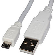 4XEM 10FT Micro USB To USB Data/Charge Cable For Samsung/Kindle/HTC (White)