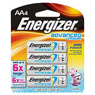 Energizer; Lithium Advanced AA Batteries, Pack Of 4
