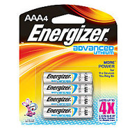 Energizer; Lithium Advanced AAA Batteries, Pack Of 4