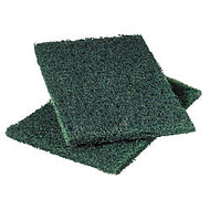 3M Scotch-Brite™ Resin Commercial Heavy-Duty Scouring Pads, 6 inch; x 9 inch;, Green, 12 Pads Per Pack, Case Of 3 Packs