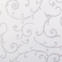 "Glitter Cardstock Swirl Pattern 12"" x 12"" cover weight"