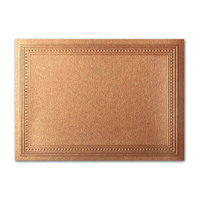 """50 Pack Stardream Metallic Copper 105 Lb. Cover A2 Imperial Embossed Border Card 4 1/4"""" X 5 1/2"""""""