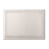 "50 Pack Stardream Metallic Quartz 105 Lb. Cover A2 Imperial Embossed Border Card 4 1/4"" X 5 1/2"""