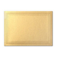 "50 Pack Stardream Metallic Gold 105 Lb. Cover A7 Imperial Embossed Border Card 5"" X 7"""