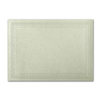 "50 Pack Stardream Metallic Serpentine 105 Lb. Cover A7 Imperial Embossed Border Card 5"" X 7"""