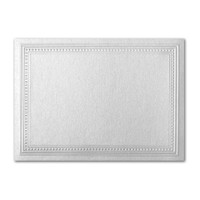 "50 Pack Stardream Metallic Silver 105 Lb. Cover A7 Imperial Embossed Border Card 5"" X 7"""