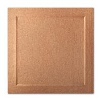 "50 Pack Stardream Metallic Copper 105 Lb. Cover Square Bevel Panel Border Card 6 1/4"" X 6 1/4"""