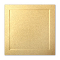 "50 Pack Stardream Metallic Gold 105 Lb. Cover Square Bevel Panel Border Card 6 1/4"" X 6 1/4"""
