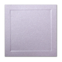 "50 Pack Stardream Metallic Kunzite 105 Lb. Cover Square Bevel Panel Border Card 6 1/4"" X 6 1/4"""
