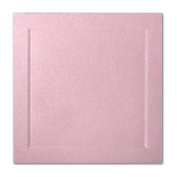 "50 Pack Stardream Metallic Rose 105 Lb. Cover Square Bevel Panel Border Card 6 1/4"" X 6 1/4"""