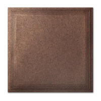"50 Pack Stardream Metallic Bronze 105 Lb. Cover Square Imperial Embossed Border Card 7 1/4"" X 7 1/4"""