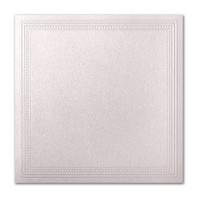 "50 Pack Stardream Metallic Coral 105 Lb. Cover Square Imperial Embossed Border Card 7 1/4"" X 7 1/4"""