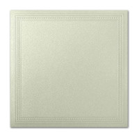 "50 Pack Stardream Metallic Serpentine 105 Lb. Cover Square Imperial Embossed Border Card 7 1/4"" X 7 1/4"""