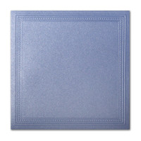 "50 Pack Stardream Metallic Vista 105 Lb. Cover Square Imperial Embossed Border Card 7 1/4"" X 7 1/4"""