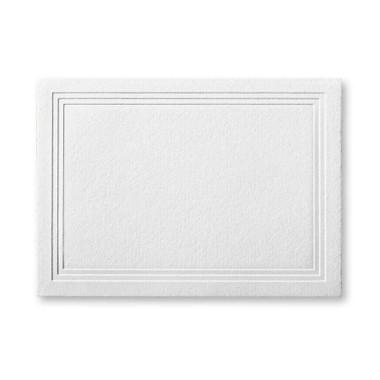"50 Pack Reich Savoy Brilliant White 118 Lb. Cover Triple Panel Border Enclosure Cards 2 15/32"" X 3 7/16"""