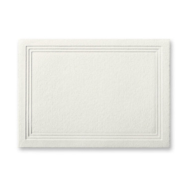 """50 Pack Reich Savoy Natural White 118 Lb. Cover Triple Panel Border Enclosure Cards 2 15/32"""" X 3 7/16"""""""