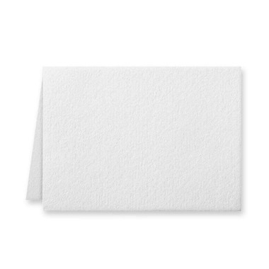 """50 Pack Reich Savoy Brilliant White 118 Lb. Cover Borderless Folded Enclosure Cards 2 15/32"""" X 3 7/16"""" Closed"""