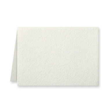 "50 Pack Reich Savoy Natural White 118 Lb. Cover Borderless Folded Enclosure Cards 2 15/32"" X 3 7/16"" Closed"