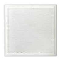 "50 Pack Eames Painting Eames White 80 Lb. Cover Square Imperial Embossed Border Cards 7 1/4"" X  7 1/4"""