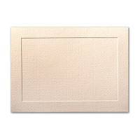 "50 Pack Eames Furniture Eames Natural White 80 Lb. Cover A8 Panel Border Card 5 3/8"" X 7 3/4"""