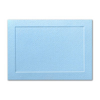 "50 Pack Eames Furniture Pacific Blue 80 Lb. Cover A8 Panel Border Card 5 3/8"" X 7 3/4"""