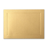 "50 Pack Stardream Metallic Gold 105 Lb. Cover A2 Bevel Panel Border Card 4 1/4"" X 5 1/2"""
