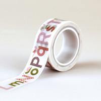Echo Park Decorative Tape Alphabet Washi Tape