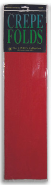 """Crepe Paper Flame Red Crepe Paper Folds (20"""" X 90 """") ()"""