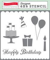 Echo Park Paper Happy Birthday Stencil
