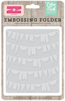 Echo Park Paper Curved Pennant Embossing Folder