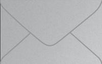 Metallic Argento Business Card Metallic Euro Pointed Flap Envelopes 50 Per Package