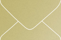 Curious Metallics Gold Leaf 4-Bar Metallic Euro Pointed Flap Envelopes 50 Per Package