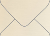 Esse Pearlized Latte A-7 Metallic Euro Pointed Flap Envelopes 50 Per Package