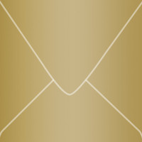 """Stardream Antique Gold 6"""" Square Metallic Euro Pointed Flap Envelopes 50 Per Package"""