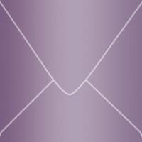 "Curious Metallics Violette 6"" Square Metallic Euro Pointed Flap Envelopes 50 Per Package"