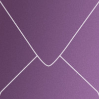 "Curious Metallics Violette 6 1/2"" Square Metallic Euro Pointed Flap Envelopes 50 Per Package"