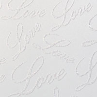 "Glitter Cardstock Love Letters Pattern 12"" x 12"" cover weight"