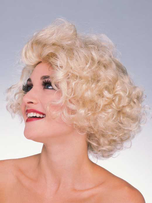 Blonde Hollywood Starlet Wig Styled Like Marilyn Monroe or Madonna 214d1233c241