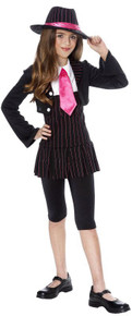 Gangster Girl Pink Pinstripe Costume