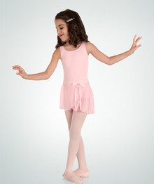 Girl's Microfiber Tank Dress Leotard w/ Skirt