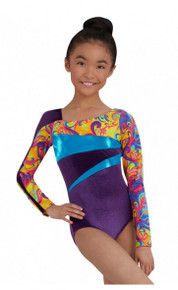 Long Sleeve Metallic & Soft Gymnastics Leotard