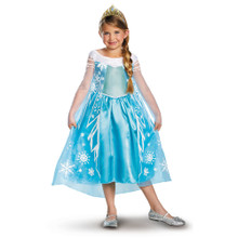 Disney Princess Girl's Costume Deluxe Elsa Licensed Frozen