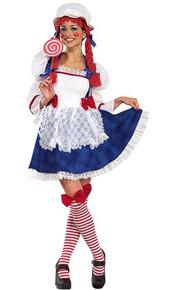 Rag Doll Adult Costume Secret Wishes 3pc