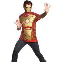 Avengers Licensed Iron Man T-Shirt with Mask