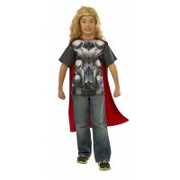 Avengers Licensed Thor T-Shirt with Cape