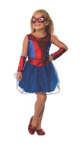 Spider-Girl Costume Tutu Dress, Mask, & Gauntlets