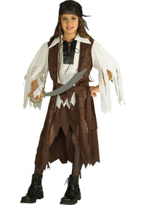 Caribbean Pirate Queen Girl's Costume