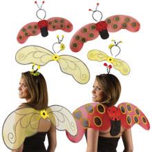 Instant Bumblebee or Ladybug Wing Set