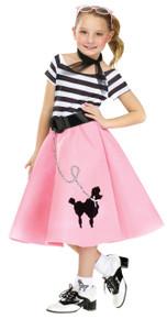 50's Soda Shop Sweetie Kids Poodle Skirt Dress