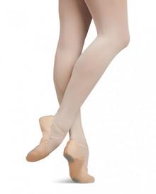 Child Juliet Leather Split Sole Ballet Shoe - Light Pink